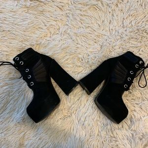 Shelly's Of London Platform Suede Boots